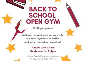 Morrison Gymnastics School Supply Open Gym