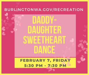 Burlington Parks & Rec Daddy-Daughter Sweetheart Dance