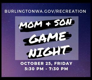 Burlington Mom & Son Game Night