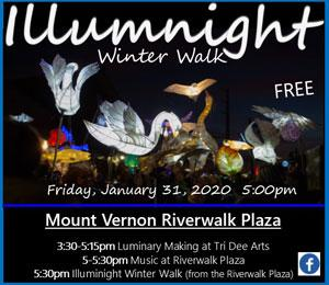 Illuminight Winter Walk 2020 Mount Vernon WA